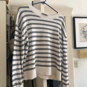 Everlane square striped cotton sweater
